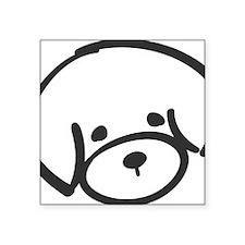 """bichon face Square Sticker 3"""" x 3"""""""