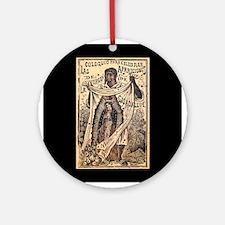 Virgen de Guadalupe - Posada Woodcut Ornament (Rou