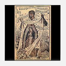 Virgen de Guadalupe - Posada Woodcut Tile Coaster
