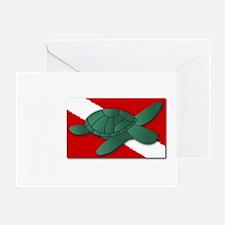 Serenity Scuba Full White Lettering Greeting Card