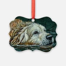 golden old swimmer Ornament