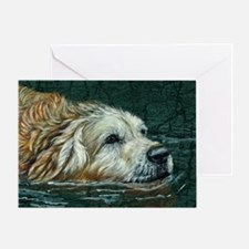 golden old swimmer Greeting Card