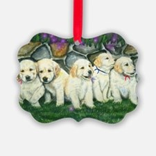golden puppies Ornament