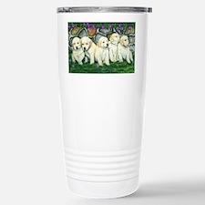 golden puppies Stainless Steel Travel Mug