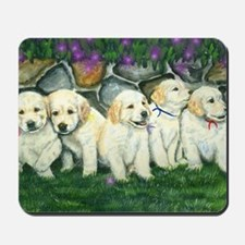 golden puppies Mousepad