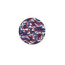 American Camo Mini Button