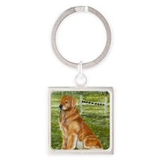 golden obedience Square Keychain