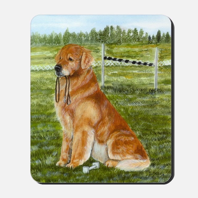 golden obedience Mousepad