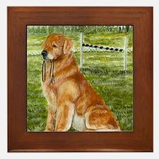 golden obedience Framed Tile
