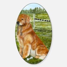 golden obedience Sticker (Oval)