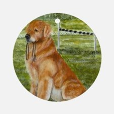 golden obedience Round Ornament