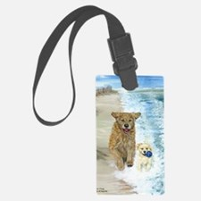 Golden Surf runners Luggage Tag