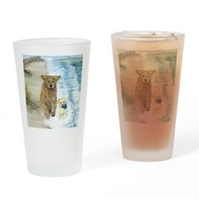 Golden Surf runners Drinking Glass