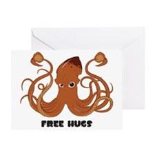 Free Hugs Giant Squid Greeting Card