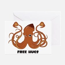 Free Hugs Giant Squid Greeting Card
