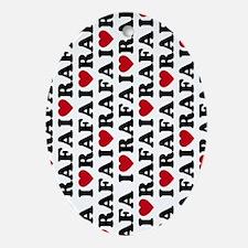 443 Rafa Love Oval Ornament
