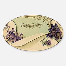 birthday Sticker (Oval)