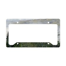 Cloudy Mountain forest License Plate Holder
