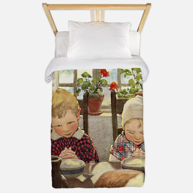 A Childs Book Of Old Verses002 Twin Duvet