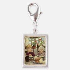 A Childs Book Of Old Verses0 Silver Portrait Charm