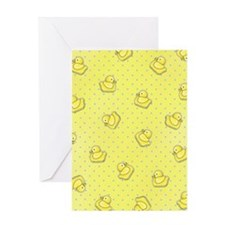 flipflop_yellow Greeting Card