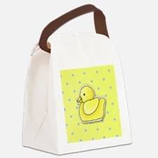 duck_badge Canvas Lunch Bag