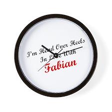 In Love with Fabian Wall Clock