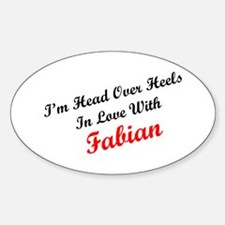 In Love with Fabian Oval Decal