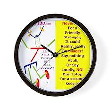 Friendly stranger-TI 2 Wall Clock