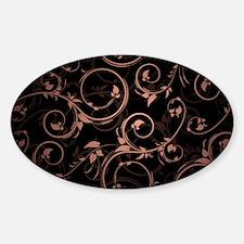 pink black swirls Decal