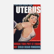 PRY uterus Rectangle Car Magnet