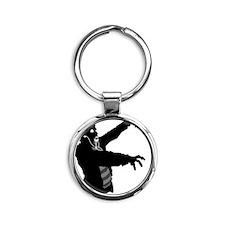 Ipod Zombie Round Keychain