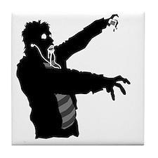 Ipod Zombie Tile Coaster