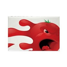 tomato battle txt clear Rectangle Magnet