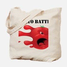 tomato battle txt clear Tote Bag
