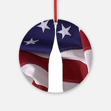 American Flag Round Ornament