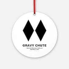 GRAVYCHUTE Round Ornament