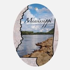 Mississippi Oval Ornament