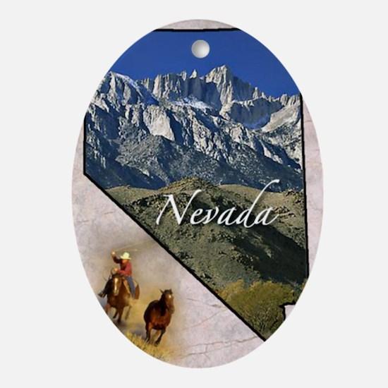 Nevada Oval Ornament