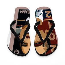 obama 2012 face Flip Flops