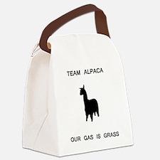 alpaca_grass.GIF Canvas Lunch Bag