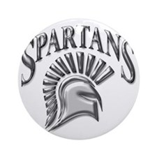 spartans Round Ornament