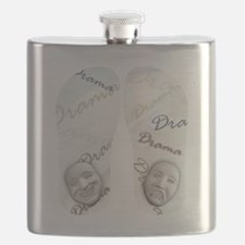 Comedy And Tragedy Flask