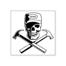 "carpenter-pirate-T Square Sticker 3"" x 3"""