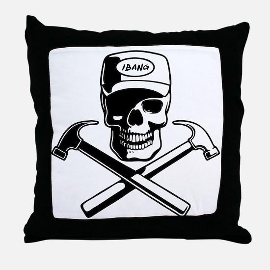 carpenter-pirate-T Throw Pillow