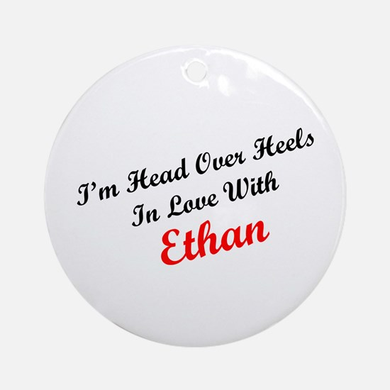 In Love with Ethan Ornament (Round)