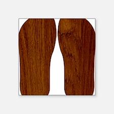 "Wood Square Sticker 3"" x 3"""