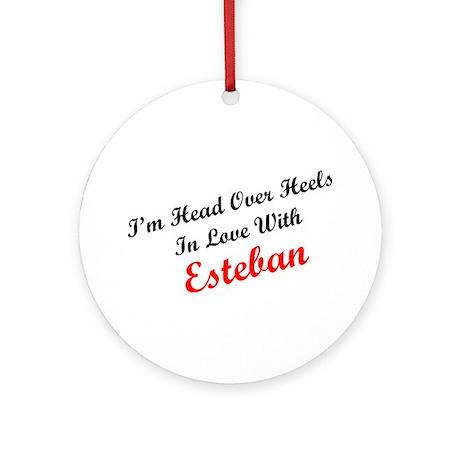 In Love with Esteban Ornament (Round)
