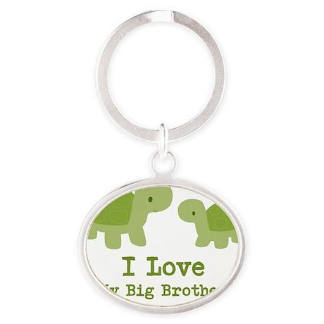 ILoveMyBigBrother_Turtles_English Oval Keychain
