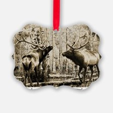 Bull elk ugly Ornament